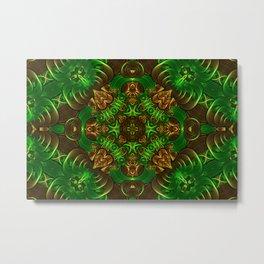 Emerald Path Mandala Metal Print