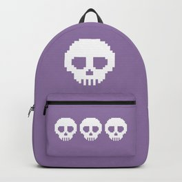 Pixel Skulls - Purple Backpack