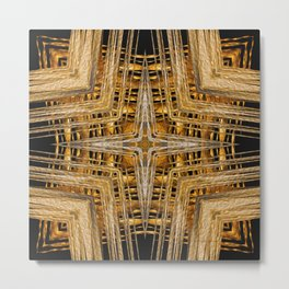 Gold and Silver Metal Print