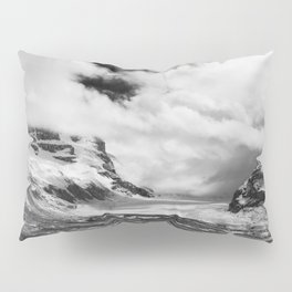 Mountains | Glaciers and clouds | Black and White | photography Pillow Sham