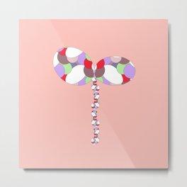 16 E=Butterflyballon2 Metal Print