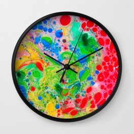 Marbling 4, Tie Dye Effect Abstract Pattern Wall Clock