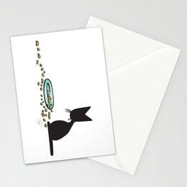 Anytime Dinnertime   (The Naughty Kitten) Stationery Cards