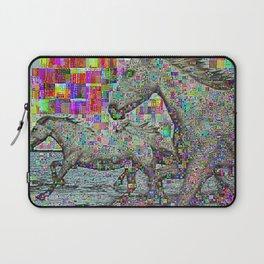 wild glitch horses Laptop Sleeve