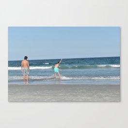 Boys on the Beach (Wrightsville Beach, NC) Canvas Print