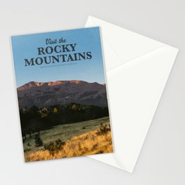 Visit Rocky mountains Stationery Cards