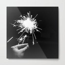Sparkler Metal Print