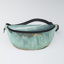 Gold Turquoise Agate Fanny Pack