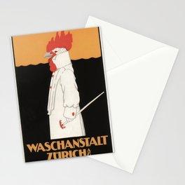 Vintage poster - Waschanstalt Zurich Stationery Cards