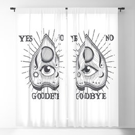 Yes No Goodbye Magic Ouija Vintage Planchette Design Blackout Curtain