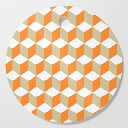 Diamond Repeating Pattern In Russet Orange and Grey Cutting Board