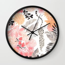 Stalking Leopard Wall Clock