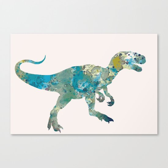 T-rex in pink Canvas Print