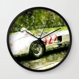 Sterling Moss 1955 Mille Miglia 300 SLR Wall Clock