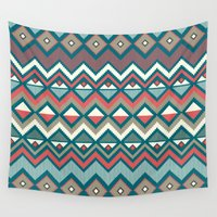 aztec Wall Tapestries featuring Aztec. by Priscila Peress
