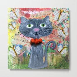 curious kitten Metal Print