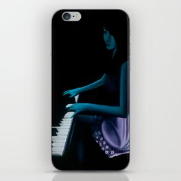 "‎""Silhouette cast from the depths""  iPhone Skin"