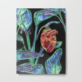 Heart Garden Metal Print