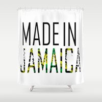jamaica Shower Curtains featuring Made In Jamaica by VirgoSpice