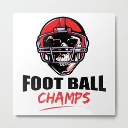 Football Champs Metal Print