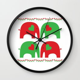 Elephant Fiesta Wall Clock