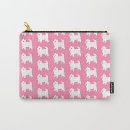 Westies Pink Pattern Carry-All Pouch