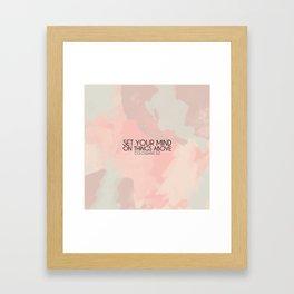 Colossians 3:2 Framed Art Print