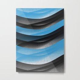 Black Blue Metal Print