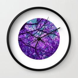 purple tree II Wall Clock