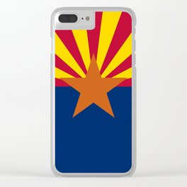 Arizona State flag, Authentic version - color and scale Clear iPhone Case