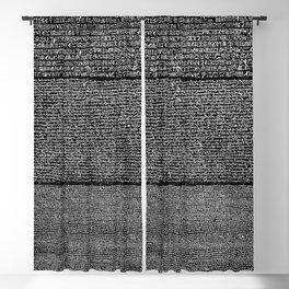 The Rosetta Stone // Black Blackout Curtain