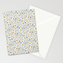 Ditsy Daisies on Blue Stationery Cards