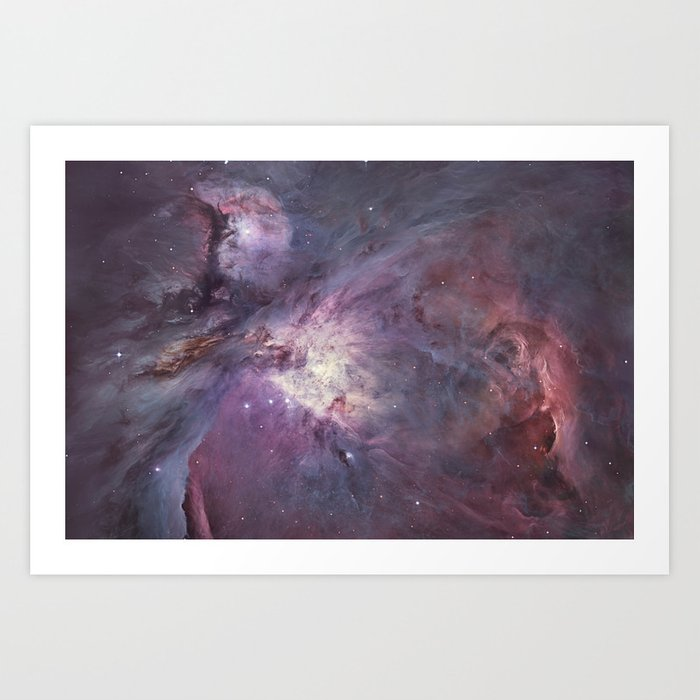 The Orion Nebula Messier 42 diffuse nebula in constellation Orion. Kunstdrucke
