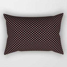Black and Apple Butter Polka Dots Rectangular Pillow