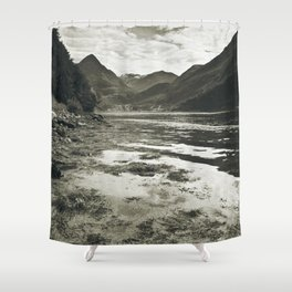See In Mono Shower Curtain