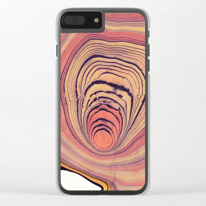 Suminagashi 06 Clear iPhone Case