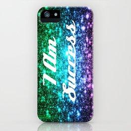 Success Affirmation Galaxy Sparkle Stars iPhone Case