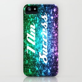Success Affirmation Galaxy Sparkle Stars iPhone Case