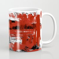 bondage Mugs featuring Bondage Color W by Red Dust