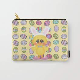 Easter Chick with Bunny Ears Carry-All Pouch