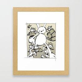 minima - beta bunny Framed Art Print
