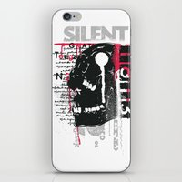 silent iPhone & iPod Skins featuring Silent by Tshirt-Factory