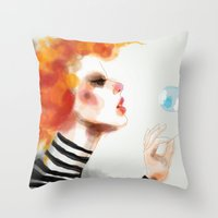 pin up Throw Pillows featuring Pin by Dnzsea