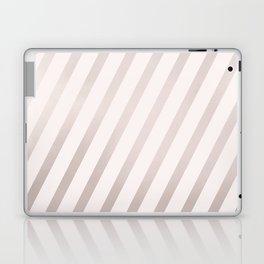 Rose Gold and Pink Diagonal Stripes Laptop & iPad Skin