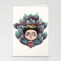 frida Stationery Cards featuring frida by yohan sacre