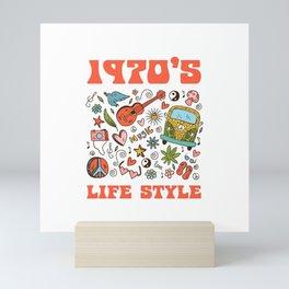 Hippie 1970 life style Mini Art Print