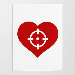 Heart as target Poster