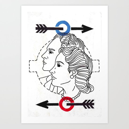 Locals Only-London Art Print