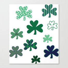 Cray Shamrocks Canvas Print