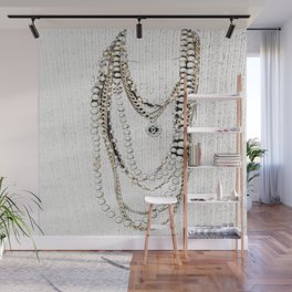 vintage white gold necklace Wall Mural